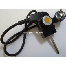 Захранващ шнур с терморегулатор за скари и грилове 65 мм, 220V, 10А