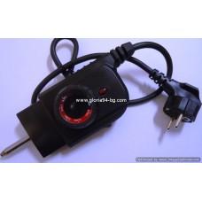 Захранващ шнур с терморегулатор за скари и грилове 40 мм, 220V, 10А