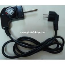 Захранващ шнур с терморегулатор за скара, тава - 52 мм