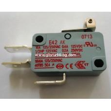 Микроключ с лост и ролка 16А, 250V