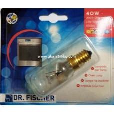 Крушка за фурна - E14, 40W, 240V, D29, L74 мм